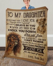 """Never Forget That I Love You Dad To Daughter Fleece Blanket - 50"""" x 60"""" aos-coral-fleece-blanket-50x60-lifestyle-front-02a"""