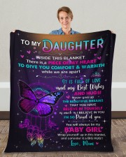 "Inside This Blanket Mom To Daughter Fleece Blanket - 50"" x 60"" aos-coral-fleece-blanket-50x60-lifestyle-front-01c"