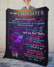 "Inside This Blanket Mom To Daughter Fleece Blanket - 50"" x 60"" aos-coral-fleece-blanket-50x60-lifestyle-front-02"