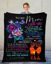 """I Love You For All The Times Daughter To Mom Fleece Blanket - 50"""" x 60"""" aos-coral-fleece-blanket-50x60-lifestyle-front-01"""