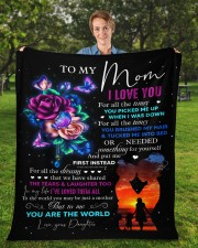 """I Love You For All The Times Daughter To Mom Fleece Blanket - 50"""" x 60"""" aos-coral-fleece-blanket-50x60-lifestyle-front-01a"""