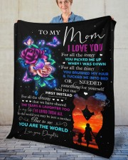 """I Love You For All The Times Daughter To Mom Fleece Blanket - 50"""" x 60"""" aos-coral-fleece-blanket-50x60-lifestyle-front-02"""