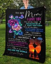 """I Love You For All The Times Daughter To Mom Fleece Blanket - 50"""" x 60"""" aos-coral-fleece-blanket-50x60-lifestyle-front-02b"""