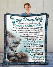 """Today Is A Good Day To Have  Great Day To Daughter Fleece Blanket - 50"""" x 60"""" aos-coral-fleece-blanket-50x60-lifestyle-front-01"""