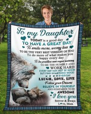 """Today Is A Good Day To Have  Great Day To Daughter Fleece Blanket - 50"""" x 60"""" aos-coral-fleece-blanket-50x60-lifestyle-front-01a"""