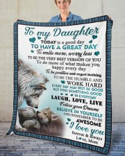 """Today Is A Good Day To Have  Great Day To Daughter Fleece Blanket - 50"""" x 60"""" aos-coral-fleece-blanket-50x60-lifestyle-front-02"""