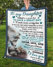 """Today Is A Good Day To Have  Great Day To Daughter Fleece Blanket - 50"""" x 60"""" aos-coral-fleece-blanket-50x60-lifestyle-front-02b"""