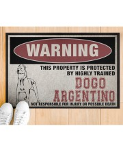 """Dogo this property is protected Doormat 22.5"""" x 15""""  aos-doormat-22-5x15-lifestyle-front-03"""