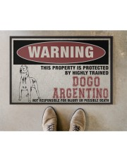 """Dogo this property is protected Doormat 22.5"""" x 15""""  aos-doormat-22-5x15-lifestyle-front-04"""