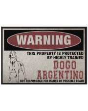 """Dogo this property is protected Doormat 22.5"""" x 15""""  front"""