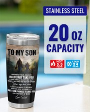 Whenever You Feel Overwhelmed - Hunting Dad To Son 20oz Tumbler aos-20oz-tumbler-lifestyle-front-35