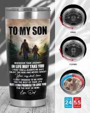 Whenever You Feel Overwhelmed - Hunting Dad To Son 20oz Tumbler aos-20oz-tumbler-lifestyle-front-45