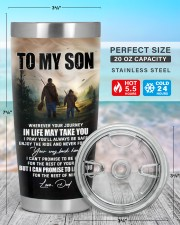 Whenever You Feel Overwhelmed - Hunting Dad To Son 20oz Tumbler aos-20oz-tumbler-lifestyle-front-47