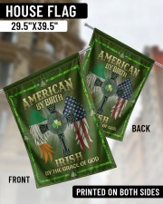 """American By Birth Irish By Grace Of God 29.5""""x39.5"""" House Flag aos-house-flag-29-5-x-39-5-ghosted-lifestyle-02"""