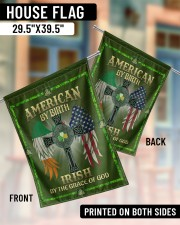"""American By Birth Irish By Grace Of God 29.5""""x39.5"""" House Flag aos-house-flag-29-5-x-39-5-ghosted-lifestyle-07"""