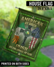 """American By Birth Irish By Grace Of God 29.5""""x39.5"""" House Flag aos-house-flag-29-5-x-39-5-ghosted-lifestyle-13"""