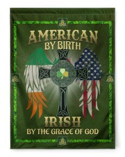 """American By Birth Irish By Grace Of God 29.5""""x39.5"""" House Flag front"""