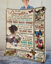"""Wherever Your Journey In Life Mom To Daughter Fleece Blanket - 50"""" x 60"""" aos-coral-fleece-blanket-50x60-lifestyle-front-02"""