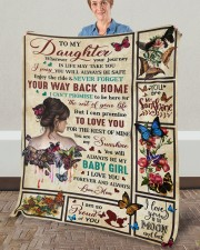 """Wherever Your Journey In Life Mom To Daughter Fleece Blanket - 50"""" x 60"""" aos-coral-fleece-blanket-50x60-lifestyle-front-02a"""