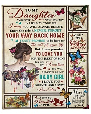 """Wherever Your Journey In Life Mom To Daughter Fleece Blanket - 50"""" x 60"""" front"""