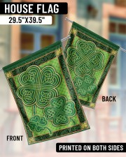 """Shamrock Pattern 29.5""""x39.5"""" House Flag aos-house-flag-29-5-x-39-5-ghosted-lifestyle-07"""