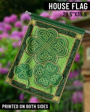 """Shamrock Pattern 29.5""""x39.5"""" House Flag aos-house-flag-29-5-x-39-5-ghosted-lifestyle-14"""