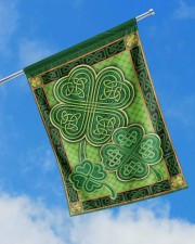 """Shamrock Pattern 29.5""""x39.5"""" House Flag aos-house-flag-29-5-x-39-5-ghosted-lifestyle-16"""