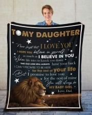 """Never Forget That I Love You Lion Dad To Daughter Fleece Blanket - 50"""" x 60"""" aos-coral-fleece-blanket-50x60-lifestyle-front-01"""