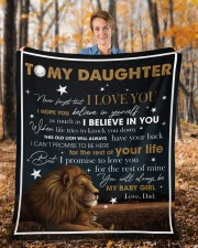 """Never Forget That I Love You Lion Dad To Daughter Fleece Blanket - 50"""" x 60"""" aos-coral-fleece-blanket-50x60-lifestyle-front-01b"""