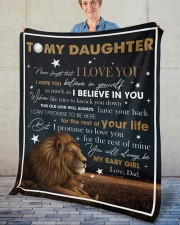 """Never Forget That I Love You Lion Dad To Daughter Fleece Blanket - 50"""" x 60"""" aos-coral-fleece-blanket-50x60-lifestyle-front-02"""