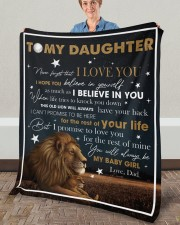 """Never Forget That I Love You Lion Dad To Daughter Fleece Blanket - 50"""" x 60"""" aos-coral-fleece-blanket-50x60-lifestyle-front-02a"""