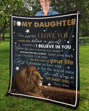 """Never Forget That I Love You Lion Dad To Daughter Fleece Blanket - 50"""" x 60"""" aos-coral-fleece-blanket-50x60-lifestyle-front-02b"""