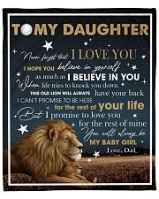 """Never Forget That I Love You Lion Dad To Daughter Fleece Blanket - 50"""" x 60"""" front"""