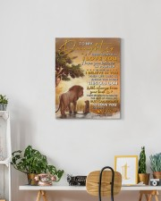 Never Forget That I Love You Lion Dad To Daughter 16x20 Gallery Wrapped Canvas Prints aos-canvas-pgw-16x20-lifestyle-front-03