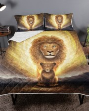 Lion dad and son Queen Quilt Bed Set aos-queen-quilt-bed-set-lifestyle-front-02a