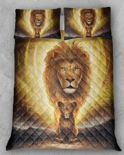 Lion dad and son Queen Quilt Bed Set aos-queen-quilt-bed-set-lifestyle-front-11