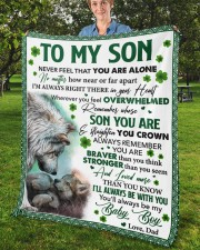"""Never Feel That You Are Alone Dad To Son  Fleece Blanket - 50"""" x 60"""" aos-coral-fleece-blanket-50x60-lifestyle-front-02b"""