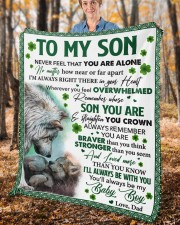 """Never Feel That You Are Alone Dad To Son  Fleece Blanket - 50"""" x 60"""" aos-coral-fleece-blanket-50x60-lifestyle-front-02c"""