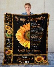 """Never Forget That I Love You Mom To Daughter Fleece Blanket - 50"""" x 60"""" aos-coral-fleece-blanket-50x60-lifestyle-front-01"""