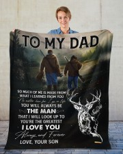 """So Much Of Me Is Made From What I Learned To Dad Fleece Blanket - 50"""" x 60"""" aos-coral-fleece-blanket-50x60-lifestyle-front-01"""