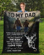"""So Much Of Me Is Made From What I Learned To Dad Fleece Blanket - 50"""" x 60"""" aos-coral-fleece-blanket-50x60-lifestyle-front-01a"""