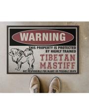 """Tibetan this property is protected Doormat 22.5"""" x 15""""  aos-doormat-22-5x15-lifestyle-front-04"""