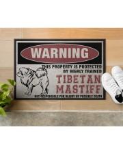 """Tibetan this property is protected Doormat 22.5"""" x 15""""  aos-doormat-22-5x15-lifestyle-front-12"""