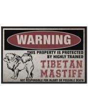 """Tibetan this property is protected Doormat 22.5"""" x 15""""  front"""