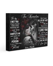 Personalized The Day I Met You GF To Boyfriend 14x11 Gallery Wrapped Canvas Prints front