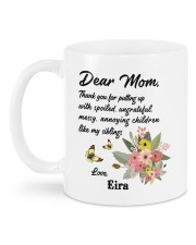 Personalized Thanks For Putting Up Daughter To Mom Mug back