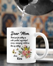 Personalized Thanks For Putting Up Daughter To Mom Mug ceramic-mug-lifestyle-64