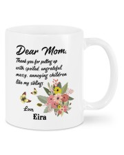 Personalized Thanks For Putting Up Daughter To Mom Mug front