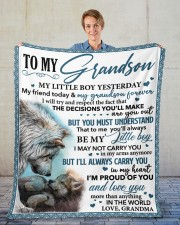 """My Little GS Yesterday Friend Today To Grandson Fleece Blanket - 50"""" x 60"""" aos-coral-fleece-blanket-50x60-lifestyle-front-01"""