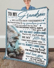 """My Little GS Yesterday Friend Today To Grandson Fleece Blanket - 50"""" x 60"""" aos-coral-fleece-blanket-50x60-lifestyle-front-02a"""